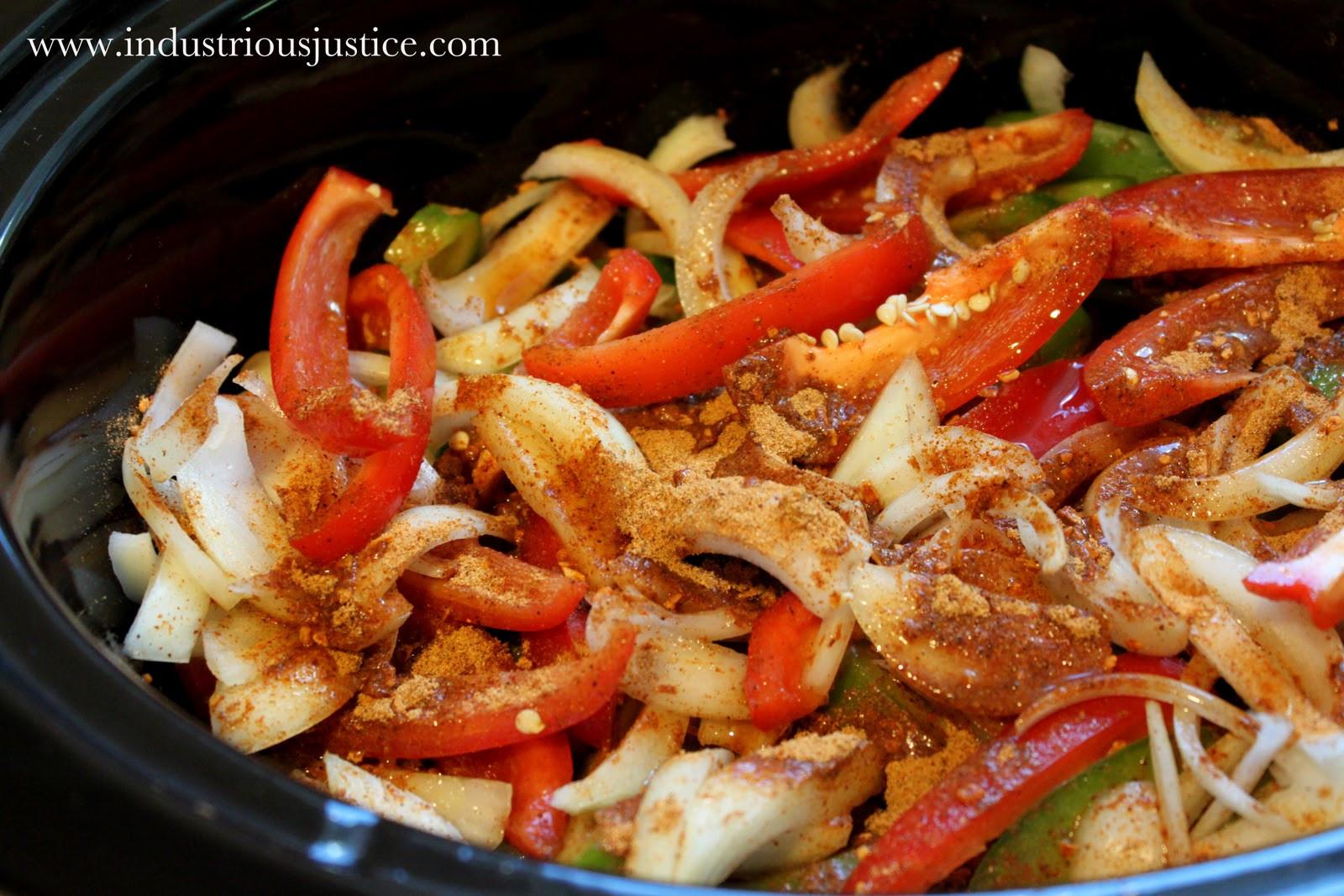 Slow Cooker Beef Fajitas  industrious justice Recipe Slow Cooker Beef Fajitas