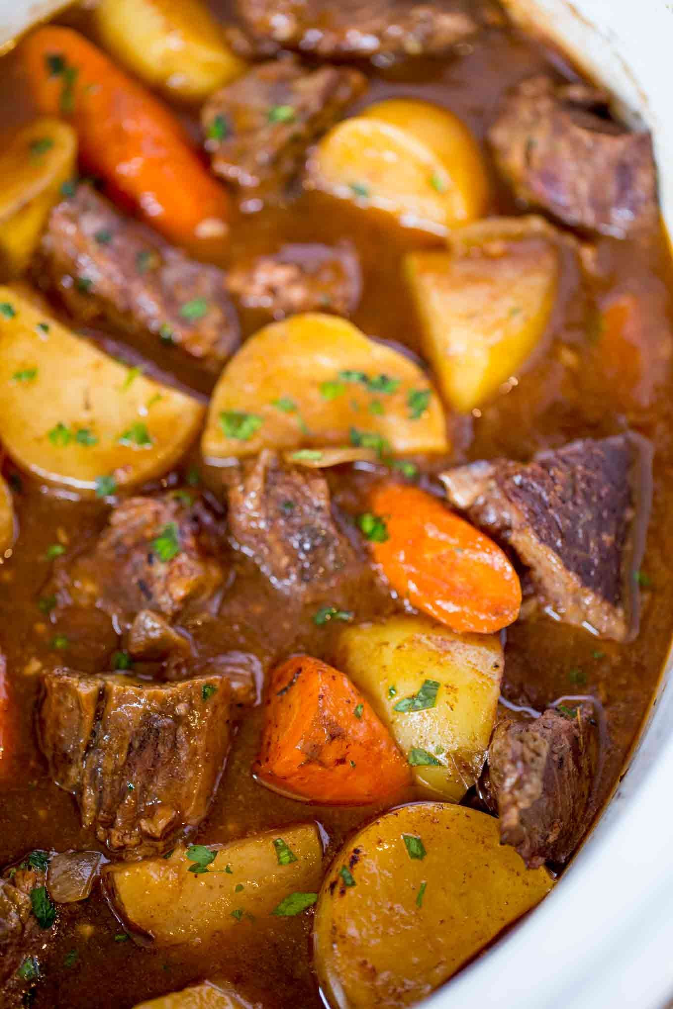 Slow Cooker Beef Stew Recipe  Ultimate Slow Cooker Beef Stew Dinner then Dessert