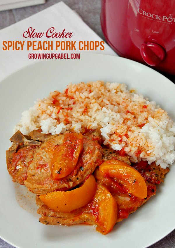 Slow Cooker Bone In Pork Chops  Spicy Slow Cooker Pork Chops and Peaches