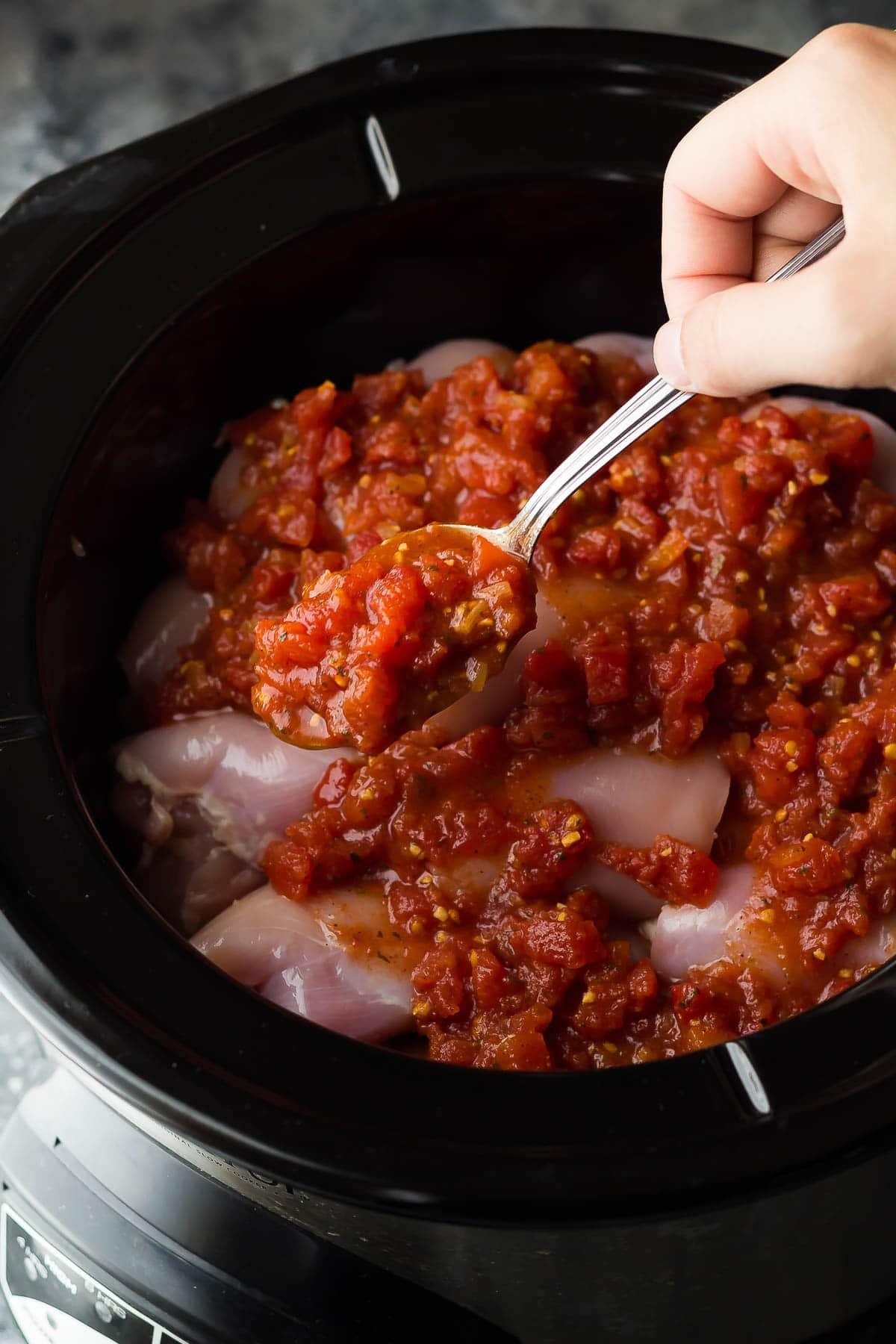 Slow Cooker Boneless Chicken Thighs  Southwestern Crockpot Chicken Thighs with Sweet Potatoes