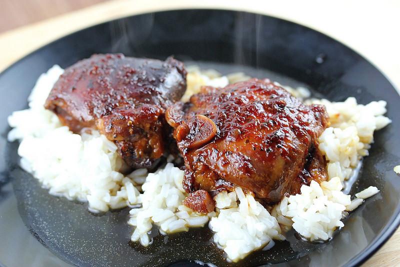 Slow Cooker Boneless Chicken Thighs  Slow Cooker Honey Garlic Chicken Thighs Recipe