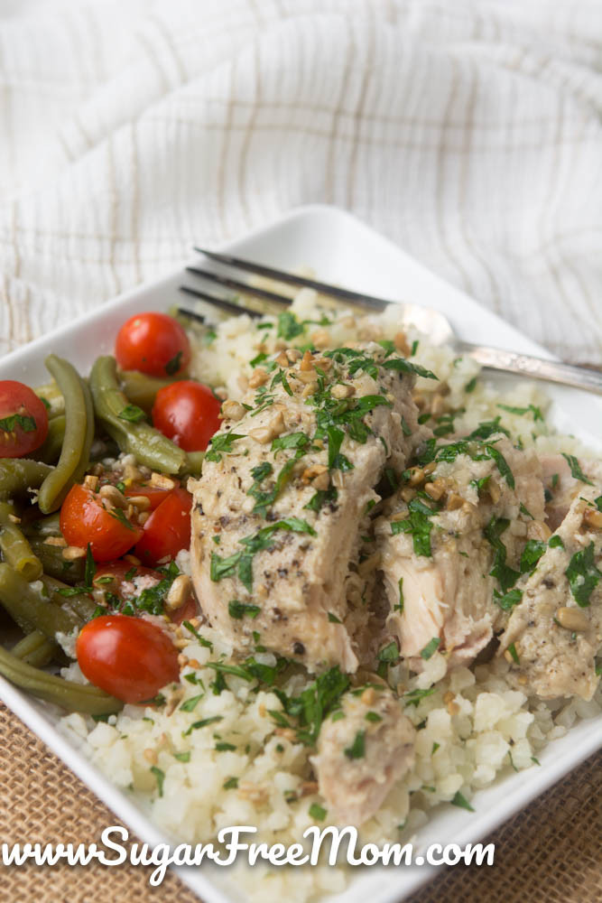 Slow Cooker Boneless Chicken Thighs  Slow Cooker Tahini Chicken Thighs Low Carb and Gluten Free