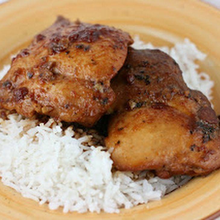 Slow Cooker Boneless Chicken Thighs  Honey Garlic Chicken Slow Cooker Recipe Main Dishes with