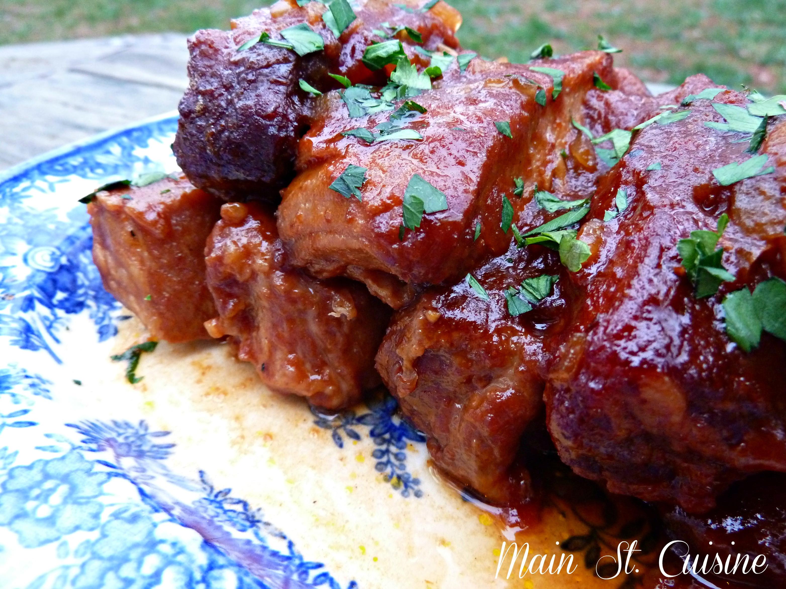 Slow Cooker Boneless Pork Ribs  boneless pork ribs oven slow cooked
