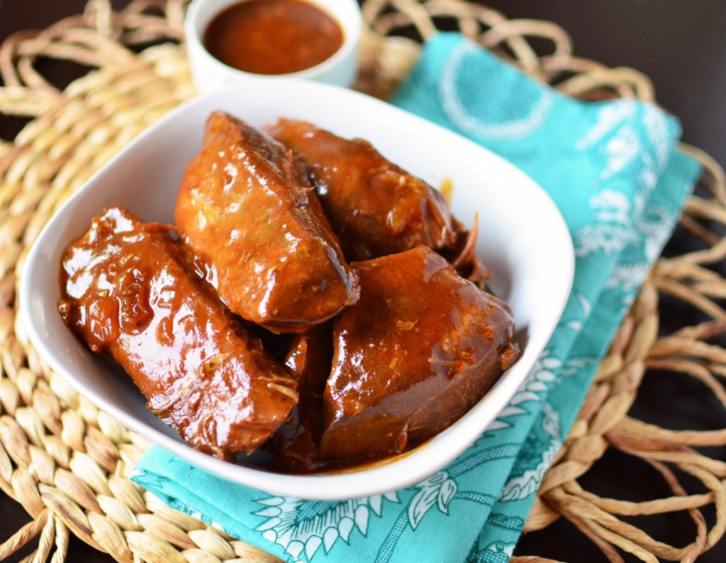 Slow Cooker Boneless Pork Ribs  Slow Cooker Boneless BBQ Pork Ribs Simple Sweet & Savory