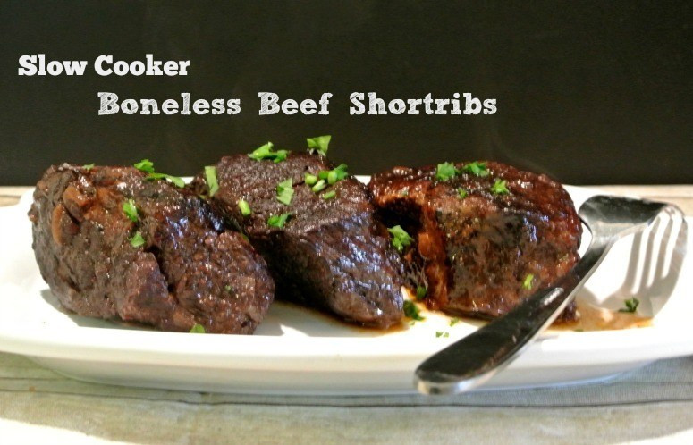 Slow Cooker Boneless Pork Ribs  Slow Cooker Boneless Beef Short Ribs Recipe