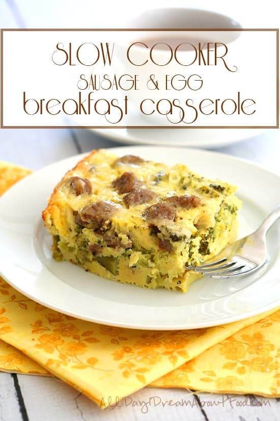 Slow Cooker Breakfast Casserole Healthy  Easy and Healthy Make Ahead Breakfast Recipes for the