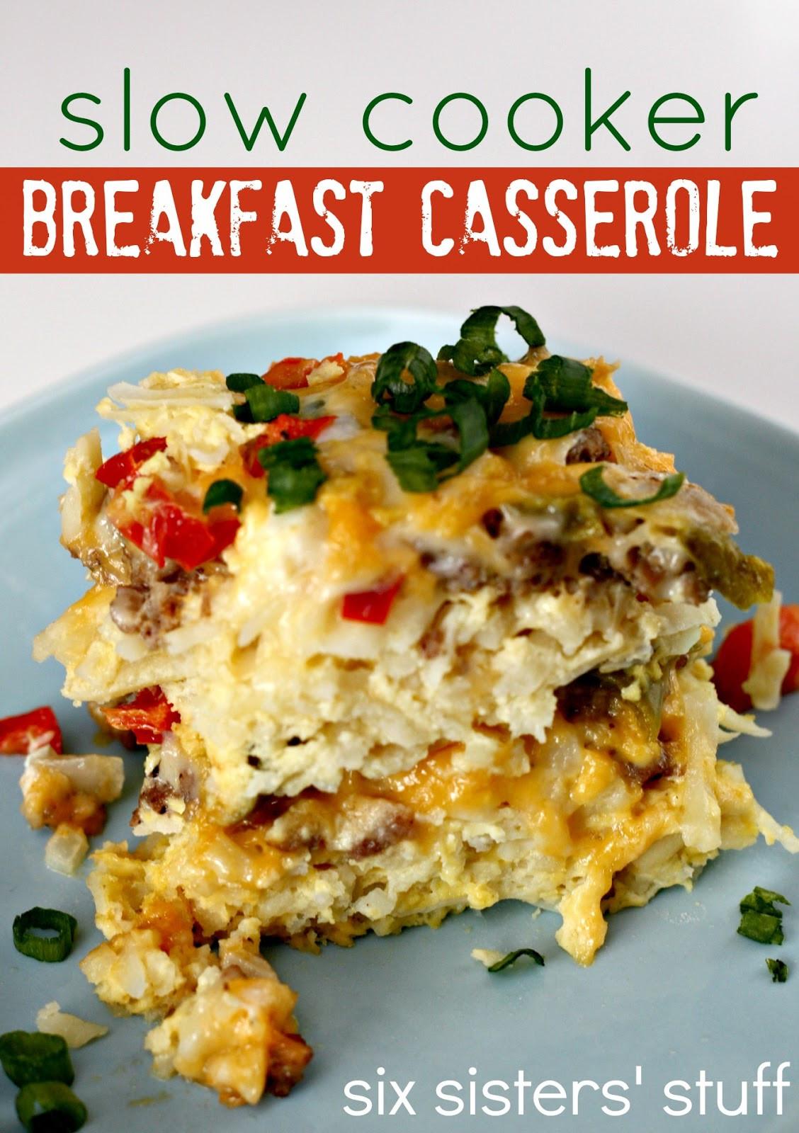 Slow Cooker Breakfast Casserole Healthy  Slow Cooker Sausage Breakfast Casserole