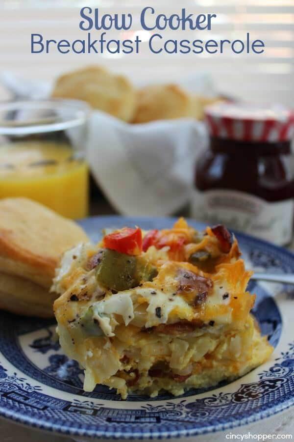 Slow Cooker Breakfast Casserole Healthy  25 Crock Pot Breakfast Recipes Julie s Eats & Treats