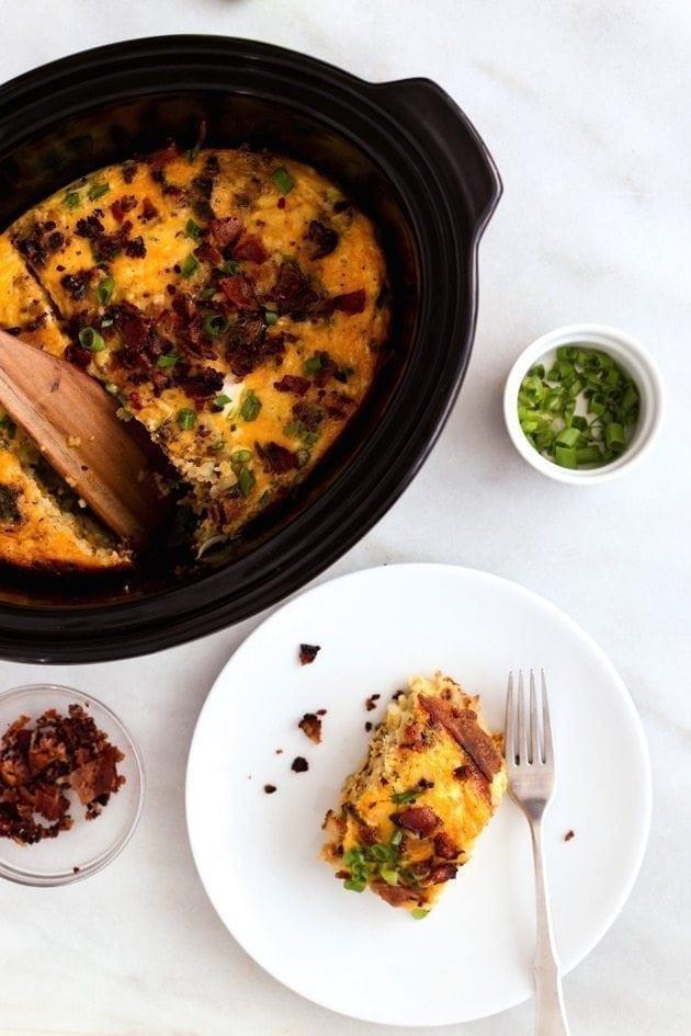 Slow Cooker Breakfast Casserole Healthy  Slow Cooker Bacon Egg & Hash Brown Casserole