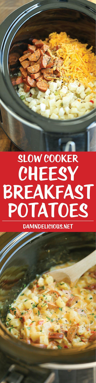 Slow Cooker Breakfast Potatoes  Slow Cooker Cheesy Breakfast Potatoes Recipe