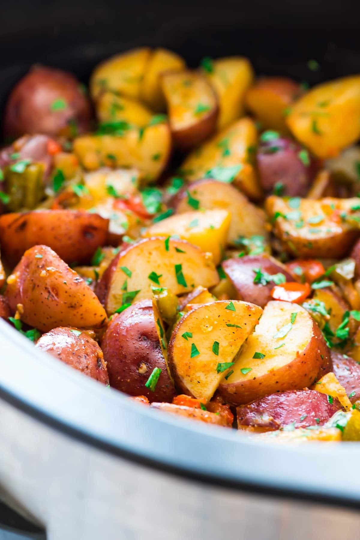 Slow Cooker Breakfast Potatoes  Crockpot Breakfast Potatoes