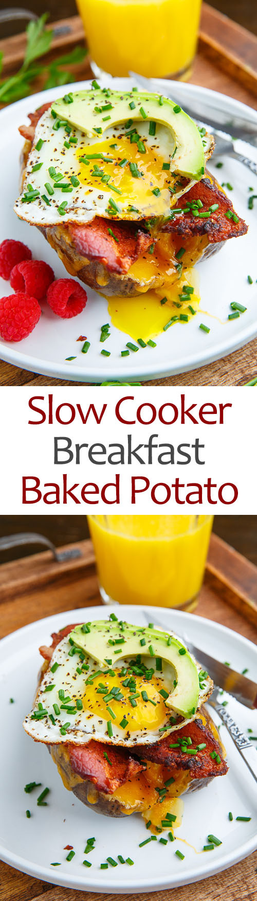 Slow Cooker Breakfast Potatoes  Slow Cooker Breakfast Baked Potatoes Recipe on Closet Cooking
