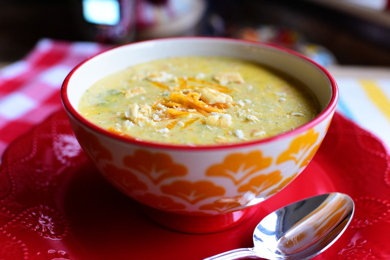 Slow Cooker Broccoli Cheddar Soup  Slow Cooker Broccoli Cheese Soup