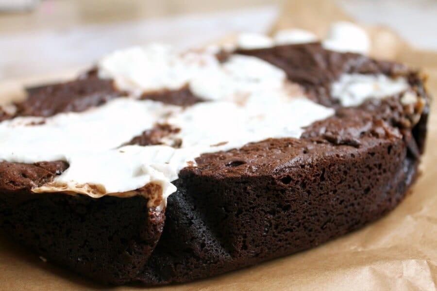 Slow Cooker Brownies  Slow Cooker Marshmallow Brownies BakingQueen74