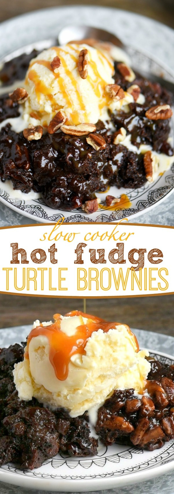 Slow Cooker Brownies  Slow Cooker Hot Fudge Turtle Brownies Mom Timeout