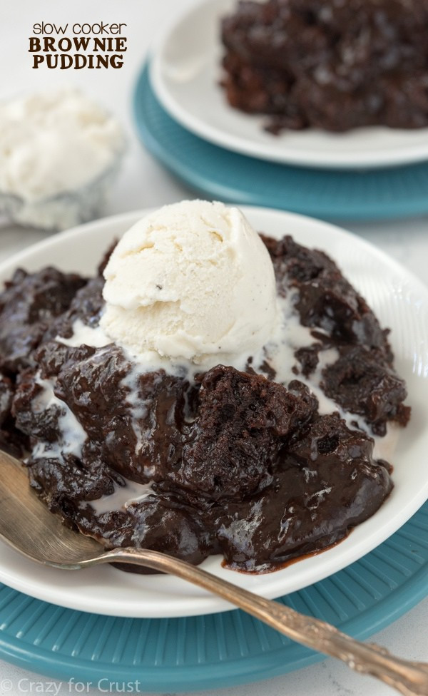 Slow Cooker Brownies  Slow Cooker Brownie Pudding Crazy for Crust
