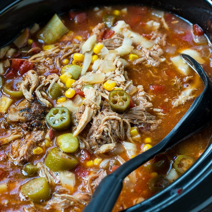 Slow Cooker Brunswick Stew  Slow Cooker Brunswick Stew Spicy Southern Kitchen