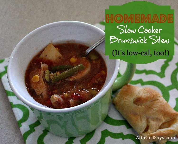Slow Cooker Brunswick Stew  Easy Slow Cooker Brunswick Stew Atta Girl Says