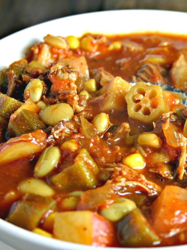Slow Cooker Brunswick Stew  Easy Brunswick Stew in the Slow Cooker The Weary Chef