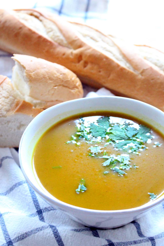 Slow Cooker Butternut Squash Soup  Slow Cooker Butternut Squash Soup with curry and ginger