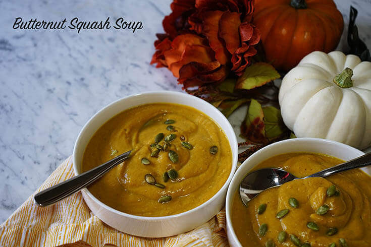 Slow Cooker Butternut Squash Soup  Make it in the slow cooker