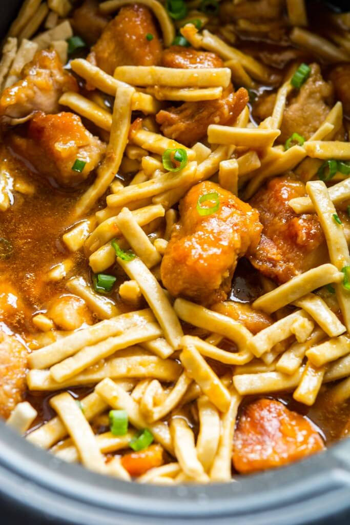 Slow Cooker Chicken And Noodles  Slow Cooker Orange Sesame Chicken and Noodles Slow
