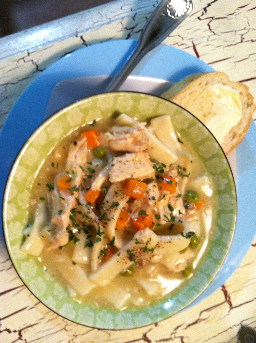 Slow Cooker Chicken And Noodles  SourdoughNative Slow Cooker Chicken and Noodles