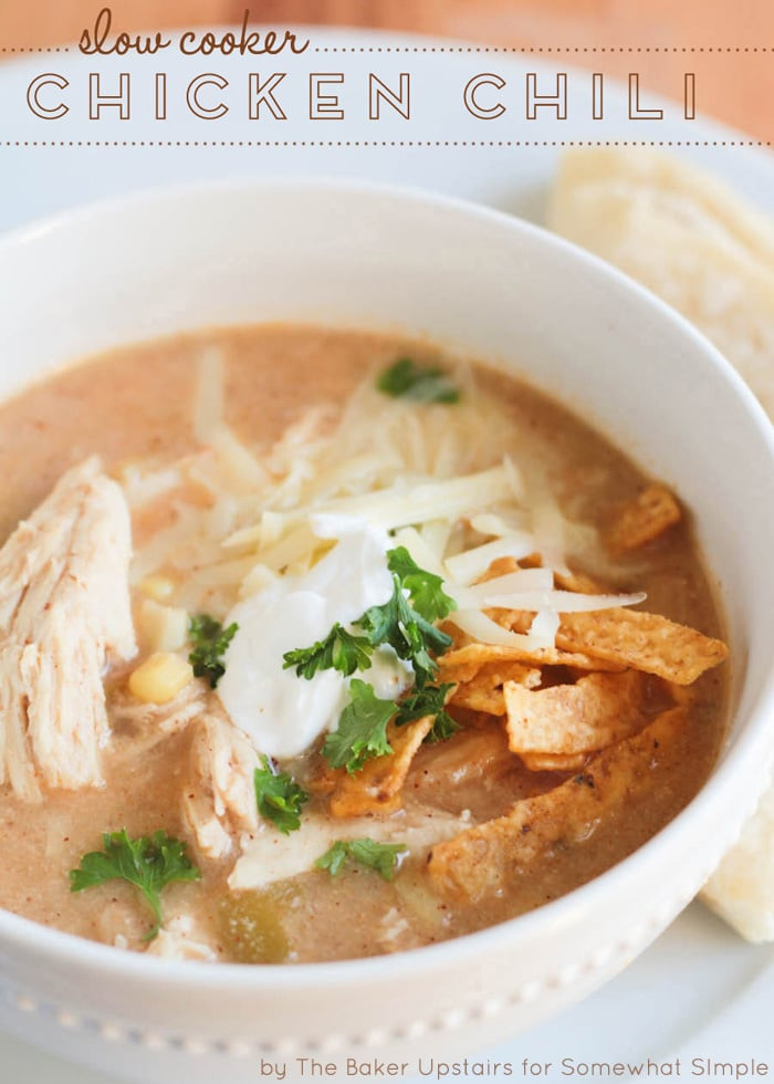 Slow Cooker Chicken Chili  Slow Cooker Chicken Chili Somewhat Simple