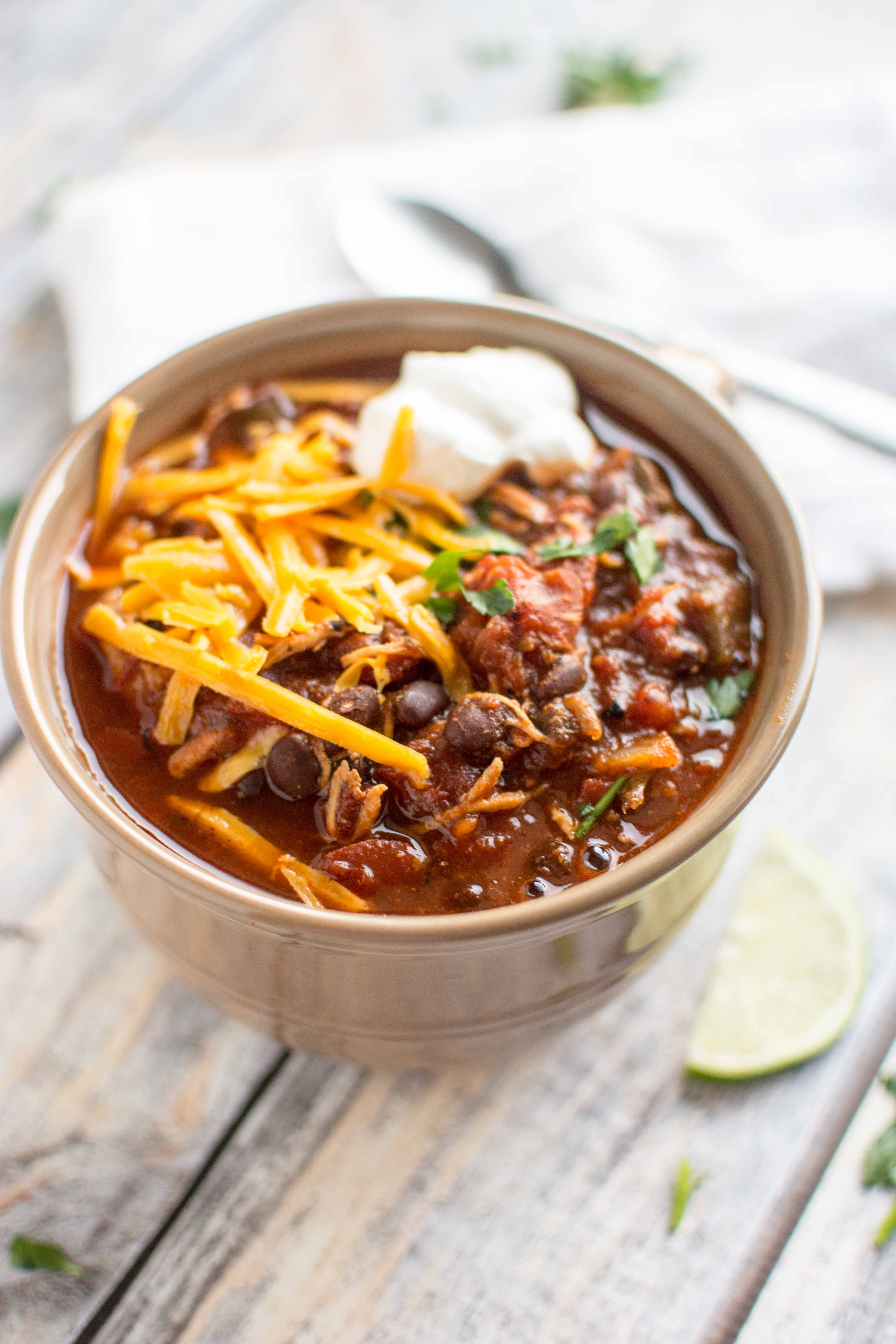 Slow Cooker Chicken Chili  Slow Cooker Roasted Tomato and Ancho Chicken Chili Slow