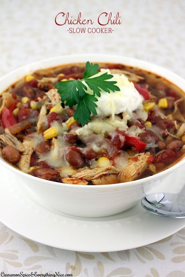 Slow Cooker Chicken Chili  Slow Cooker Shredded Chicken Chili