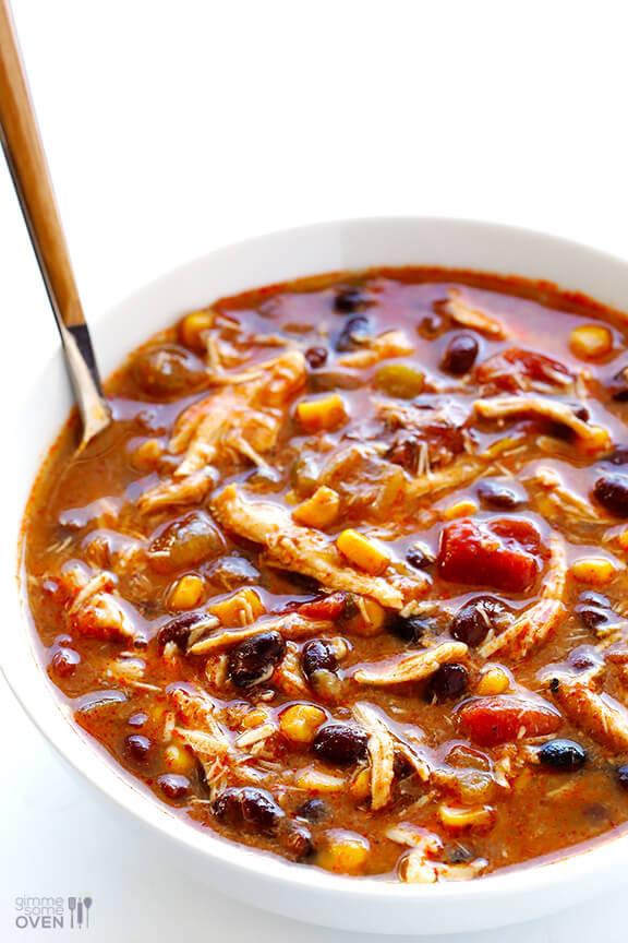 Slow Cooker Chicken Enchilada Soup  Slow Cooker Chicken Enchilada Soup