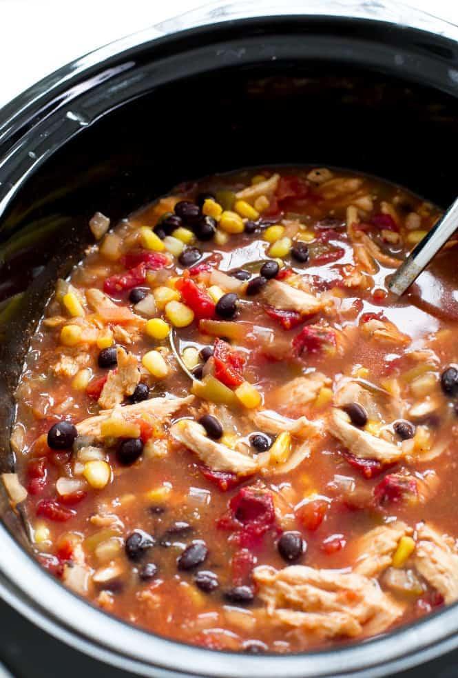 Slow Cooker Chicken Enchilada Soup  Slow Cooker Enchilada Soup
