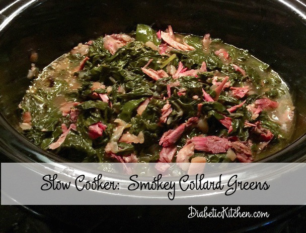 Slow Cooker Collard Greens  Slow Cooker Smokey Collard Greens