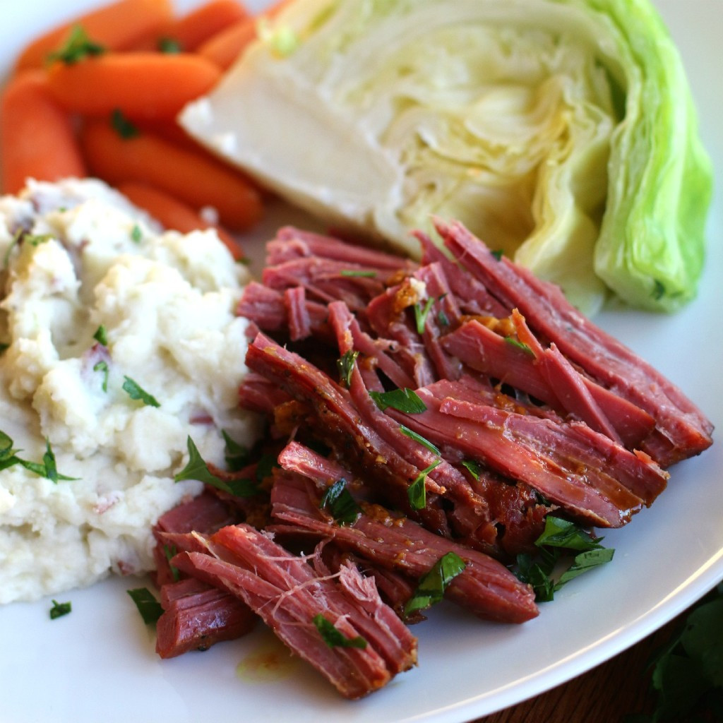 Slow Cooker Corn Beef  Slow Cooker Maple Mustard Corned Beef The Magical Slow