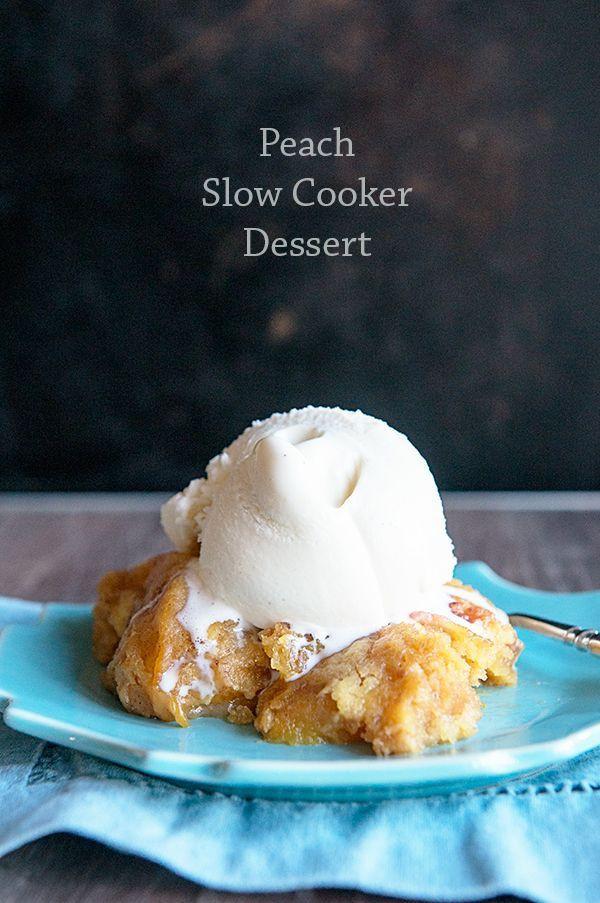 Slow Cooker Dessert Recipes  Peach Slow Cooker Dessert Recipe