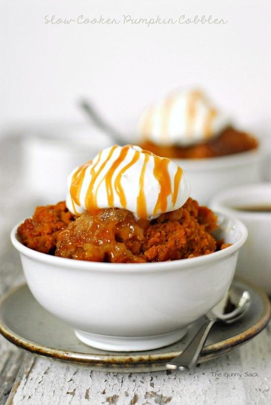 Slow Cooker Dessert Recipes  Slow Cooker Pumpkin Cobbler Recipe