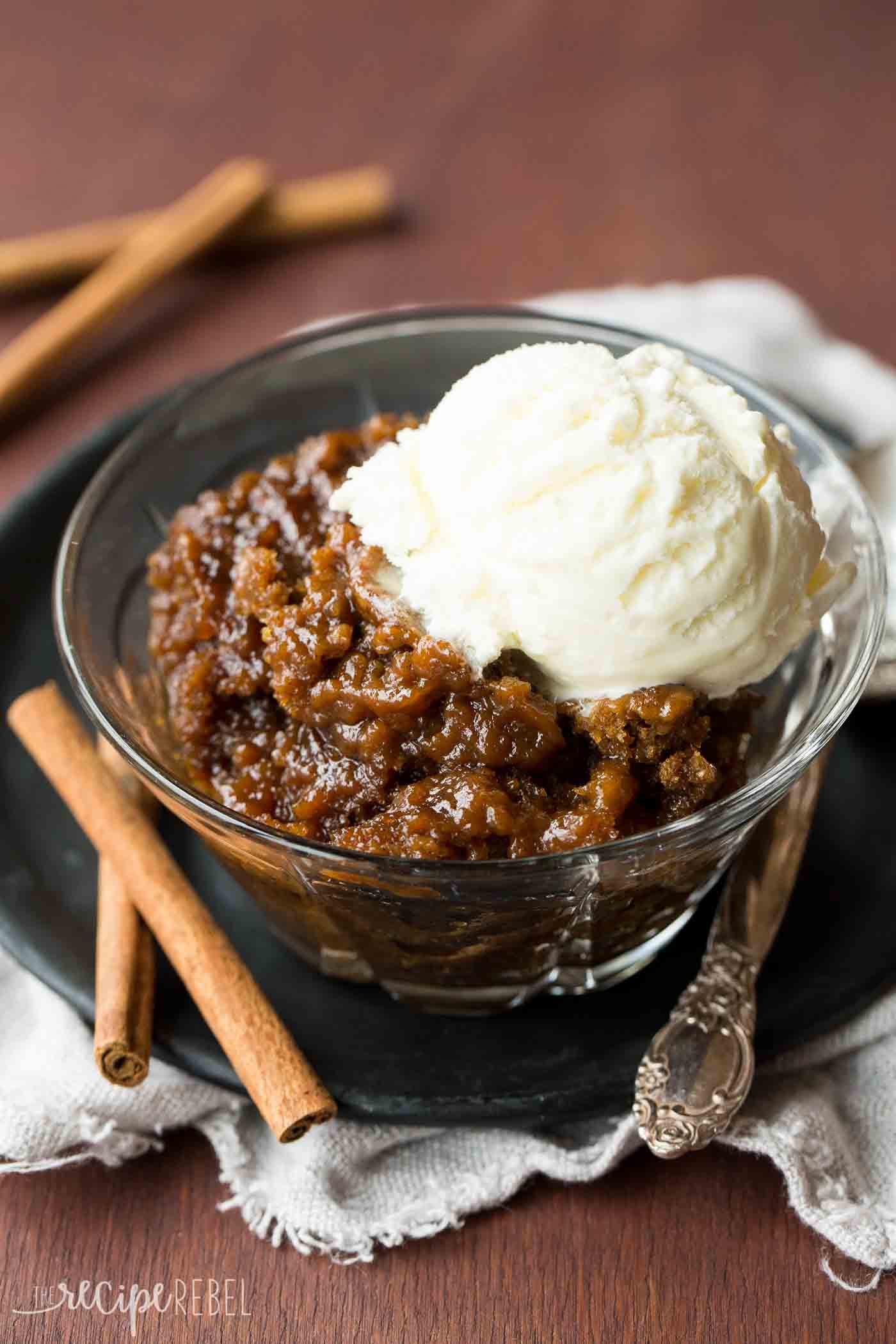 Slow Cooker Dessert Recipes  Gingerbread Pudding Cake a Slow Cooker Dessert