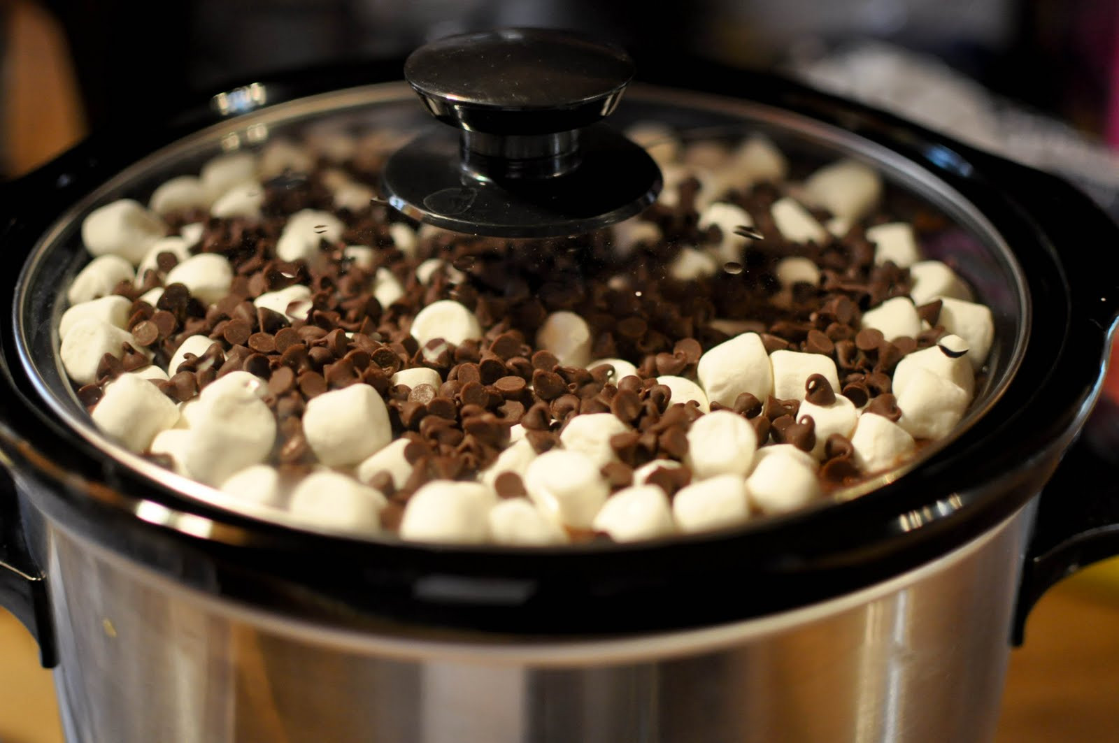 Slow Cooker Desserts  Bless This Food Rocky Road Crock Pot Cake