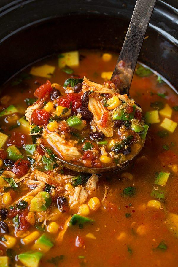 Slow Cooker Enchilada Quinoa  Slow Cooker Chicken Enchilada Quinoa Soup Cooking Classy