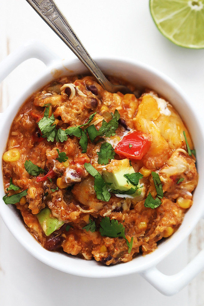 Slow Cooker Enchilada Quinoa  Weekly Menu Plan 7 The Girl Who Ate Everything