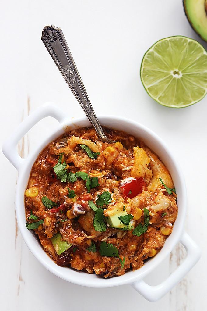 "Slow Cooker Enchilada Quinoa  ""Dump"" Recipe Enchilada Quinoa TLCme"