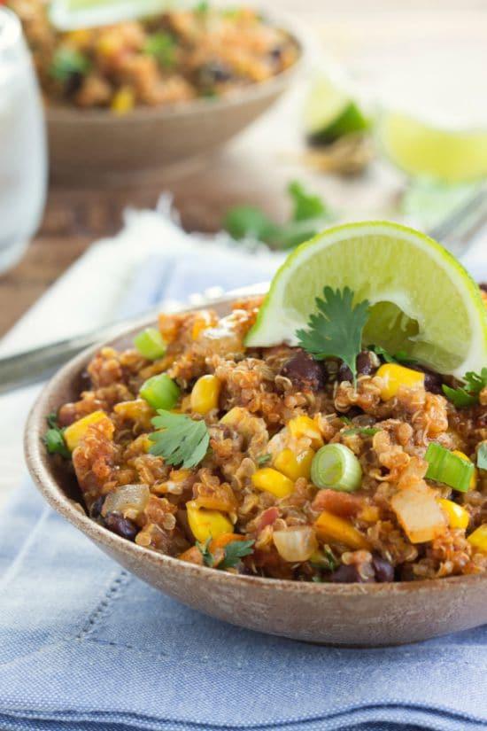 Slow Cooker Enchilada Quinoa  Healthy Slow Cooker Recipes