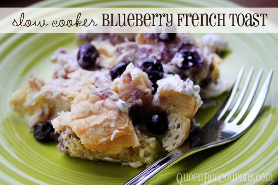 Slow Cooker French Toast  Slow Cooker Crockpot Blueberry French Toast Breakfast
