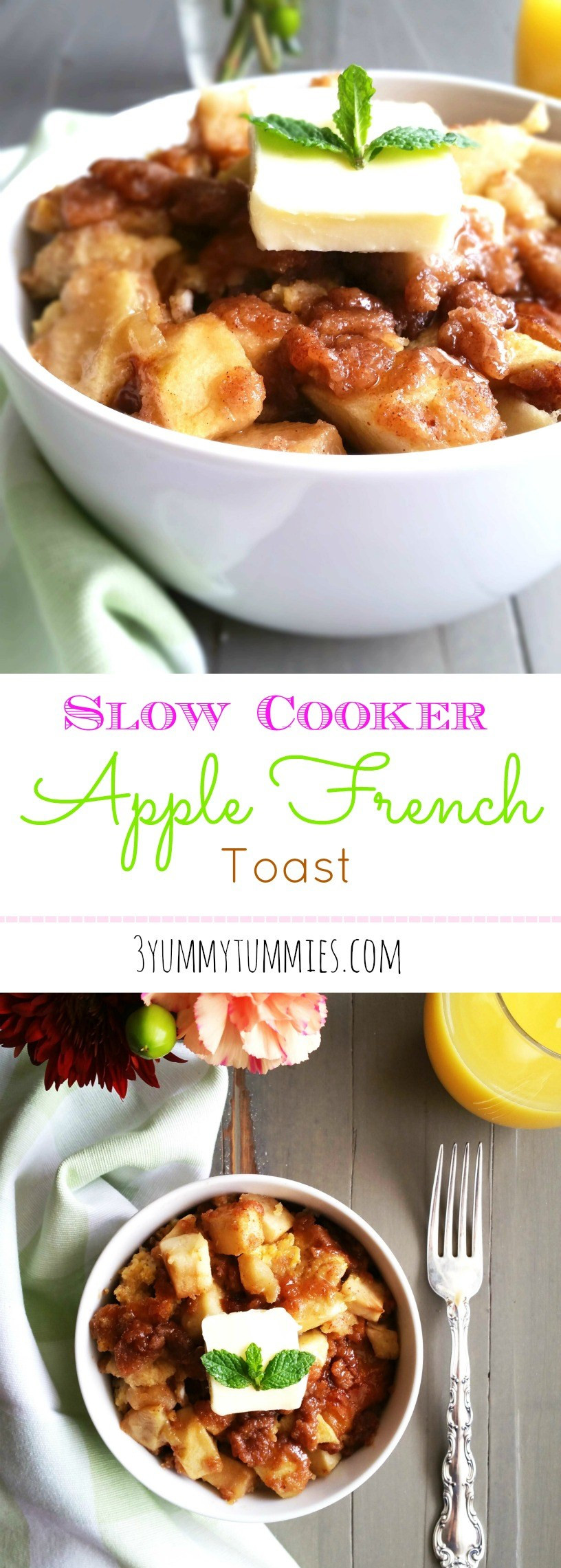 Slow Cooker French Toast  Slow Cooker Apple French Toast