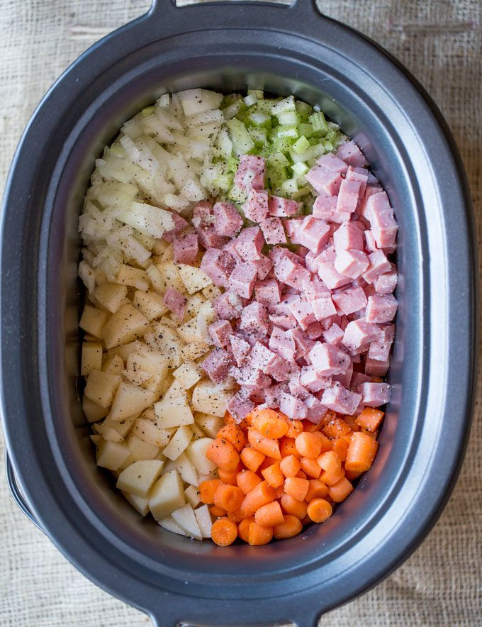 Slow Cooker Ham And Potato Soup  Slow Cooker Ham and Potato Soup Dinner then Dessert