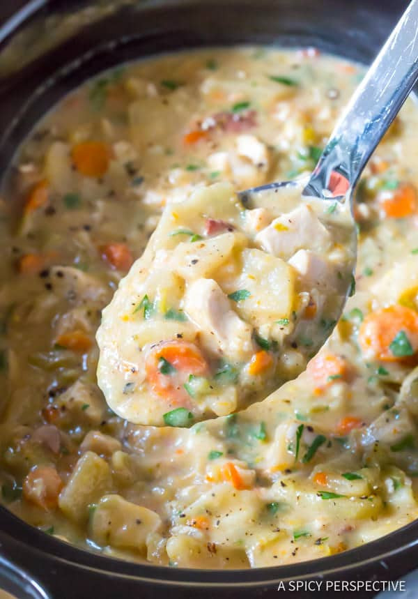 Slow Cooker Ham And Potato Soup  Healthy Slow Cooker Chicken Potato Soup A Spicy Perspective