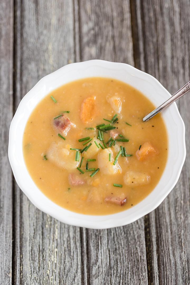 Slow Cooker Ham And Potato Soup  Slow Cooker Loaded Potato & Ham Soup