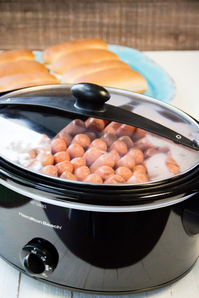 Slow Cooker Hot Dogs  Slow Cooker Hot Dogs for a Crowd