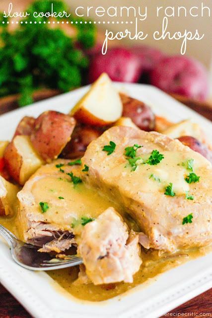 Slow Cooker Ranch Pork Chops  Top Slow Cooker Recipes SLOW COOKER CREAMY RANCH PORK CHOPS